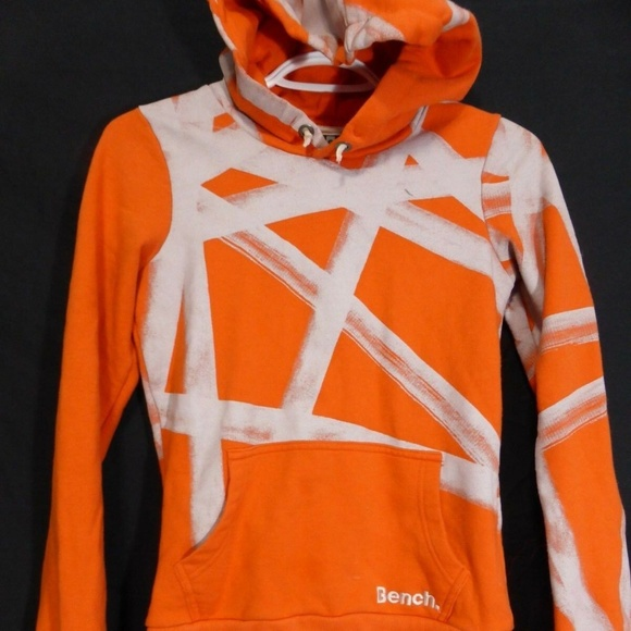 Bench, orange and gray sweatshirt hoodie,